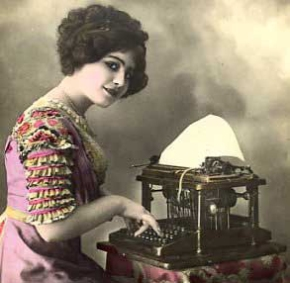 woman-typing-on-typewriter